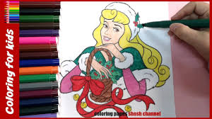 christmas disney princess aurora coloring pages xmas coloring