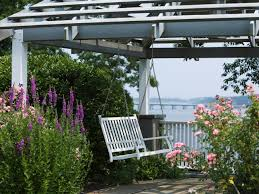 swing pergola contemporary uses for arches and pergolas hgtv