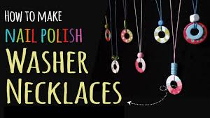 how to make washer necklaces kids crafts diy jewelry youtube