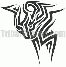 tribal cat design