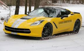yellow corvette c7 chevrolet c7 corvette spied wearing stripes it could be anything