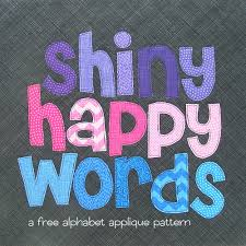 free alphabet applique pattern shiny happy world