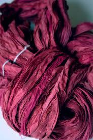 sari silk ribbon sari silk ribbon yarn by tilli tomas in bordeaux