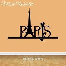 high quality paris wall murals buy cheap paris wall murals lots mad world france paris country quote wall art stickers wall decal home diy decoration decor