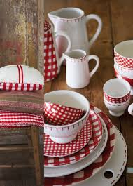 love these red and white dishes at home with marieke red