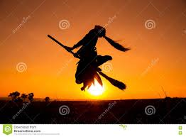 halloween witch flying broomstick stock photos images u0026 pictures