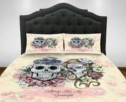 skull beddingsugar skulls duvet cover set or comforter