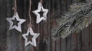 silver hanging stars christmas lights computer generated seamless