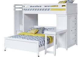 Loft Bunk Bed Desk League White Step Loft Bunk With Chest And Desk