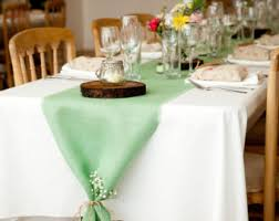 Mint Green Home Decor Mint Green Burlap Table Runner Mint Wedding Decor Seafoam