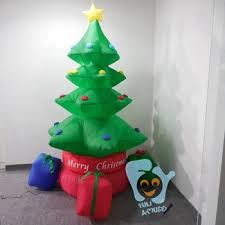 Blow Up Christmas Tree Decoration by Indoor Decoration Inflatable Christmas Tree With Rainbow Gift