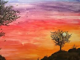 japanese sunset water color painting by flarejut16 on deviantart