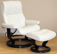 crown cori vanilla leather recliner chair