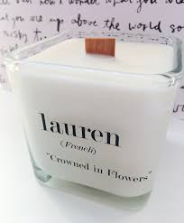 Halloween Name Origin The Original Name Meaning Soy Candle Personalized Name