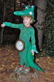 Clock Halloween Costume Green Alligator Hat Clock Run
