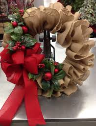 christmas burlap ruffle wreath 30 of the best