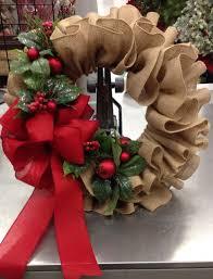 christmas burlap wreaths christmas burlap ruffle wreath 30 of the best