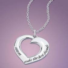 inspirational pendants make the best friends sterling silver necklace