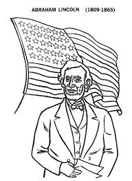 lincoln coloring pages abe lincoln and us flag on presidents day coloring page download