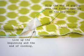 How To Sew Piping For Upholstery How To Add Piping To A Pillow