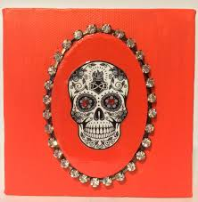 day of the dead home decor day of the dead canvas sugar skull canvas dio de muertos