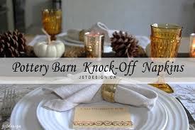 Pottery Barn Austin Hours Pottery Barn Knock Off Napkins U0026 Fall Table Setting Hometalk