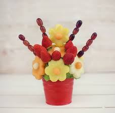 fruit bouque blooming flowers edible fruit bouquet