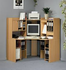White Computer Armoire by Furniture Pure White Computer Desk Completed With Drawers And