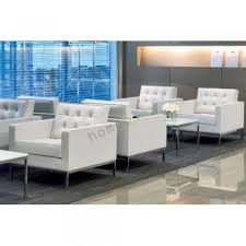 Knoll Sofa Replica by Replica Florence Knoll Single Seater Arm Chair Leather White