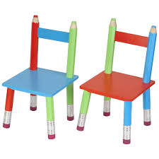 cuisine en bois nature et decouverte chaises crayons pour enfant lot de 2