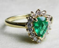 emerald ring 14k emerald engagement ring colombian emerald 14k