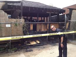 overnight fire at mezzo grille burns outdoor tiki bar middletown