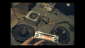 how to power a car stereo with a computer power supply