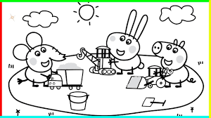 coloring pages peppa pig glum me