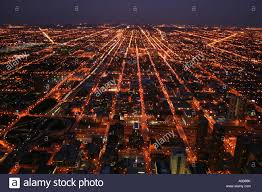 view west from willis tower formerly sears tower chicago at night