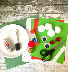elf paper plate craft for kids christmas ideas