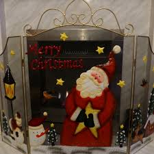 father christmas fireguard large 72cm santa fire guard fireplace
