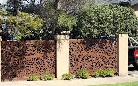 decorative steel fence panels home u0026 gardens geek