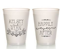 new to siphiphooray on etsy personalized wedding cups happily
