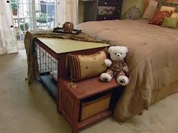 Bench Seat With Table How To Build A Dog Crate Cover Bench Seat Hgtv