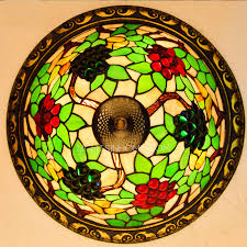 stained glass ceiling light fixtures stained glass grape tiffany style ceiling light fixtures