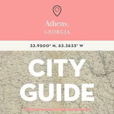 Athens City Breaks Guide by Athens Ga City Guide Design Sponge