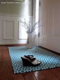 diy fabric floor cloth floor mat east coast creative