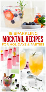 19 sparkling mocktail recipes for holidays and parties