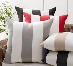 Sunbrella Indoor Sofa by Sunbrella Awning Stripe Indoor Outdoor Pillow Pottery Barn