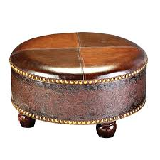 Round Coffee Table With Storage Ottomans Coffee Table Riverside Saxon Faux Leather Large Cocktail Storage