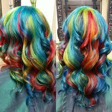 rainbow color hair ideas rainbow hair in primary colors hair colors ideas hair