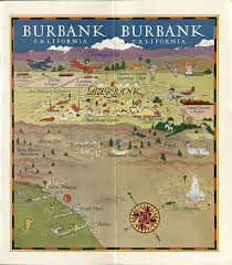 map of burbank ca beautiful downtown burbank oviatt library