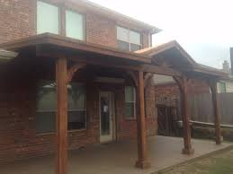Shed Roof Over Patio by Clean Shingled Patio Cover Extends Over Patio And Yard Dallas