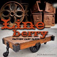 lineberry factory cart coffee table caster wheels